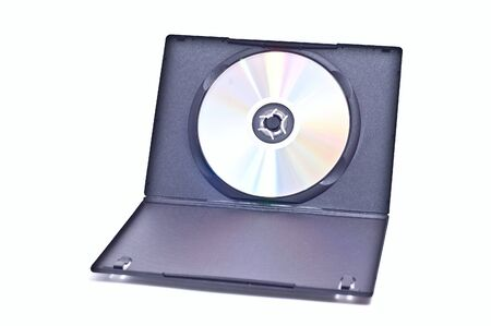 dvds: Dvd with opened case isolated on white Stock Photo