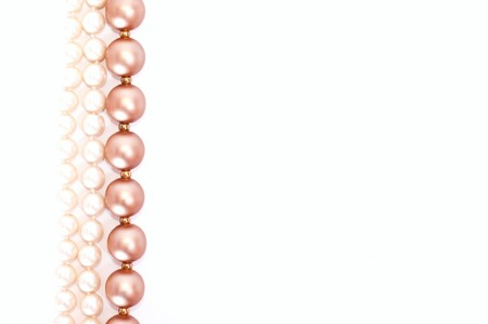 Pearls isolated on white photo