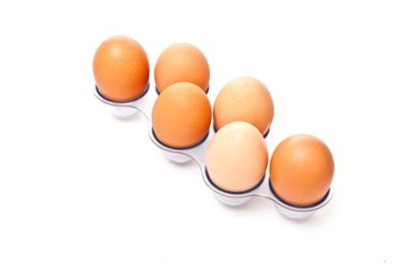 Isolated on white background raw eggs Stock Photo - 7369128