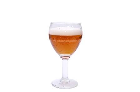 Fressh beer in glass isolated on white background Stock Photo - 7636772