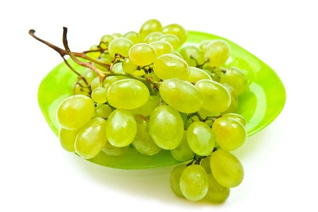 Green grape isolated on white background photo