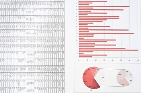 hoja de calculo: Bodeg�n de negocio con diagramas, gr�ficos y n�meros