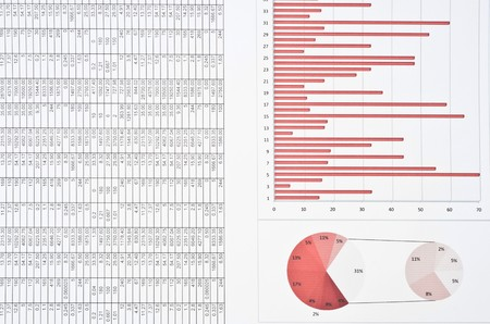 information medium: Business still-life with diagrams, charts and numbers Stock Photo