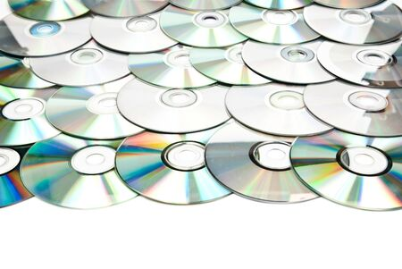 recordable: Recordable compact discs in an array