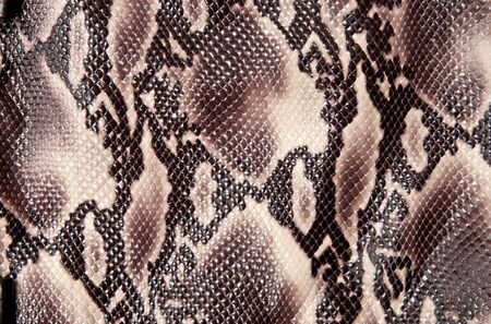 Seamless texture backgroun brown snake leather photo