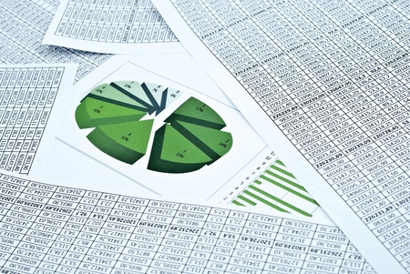 Business still-life with diagram, chart and numbers Stock Photo - 8662571