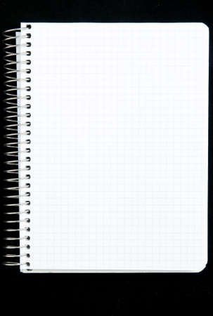 Studio blank background. paper spiral on black photo