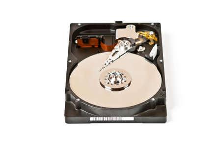 One opened hard drive isolated on white background Stock Photo - 9455316