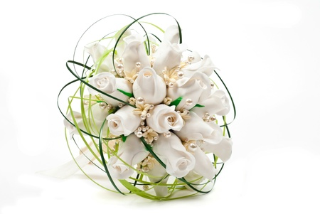 bridal bouquet: Bridal bouquet. On white background Stock Photo