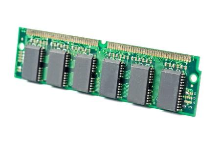 One DDR RAM stick isolated on white background photo