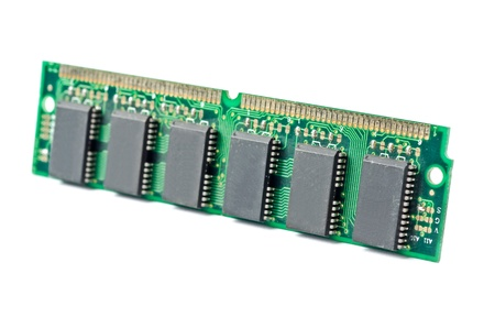 dimm: One DDR RAM stick isolated on white background