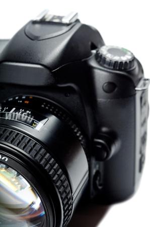Close up of a digital camera. Studio shot Stock Photo - 12627112