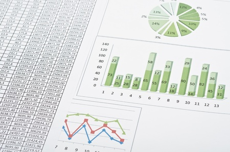 Business still-life with diagrams, charts and numbers Stock Photo - 12934584