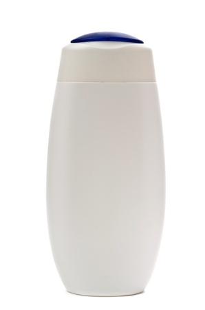 White shampoo bottle isolated on a white background photo