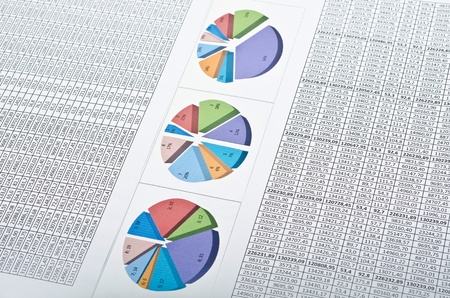 Business still-life with diagrams, charts and numbers. Studio shot Stock Photo - 12934601