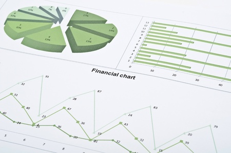 Business still-life with diagrams, charts and numbers Stock Photo - 13425069
