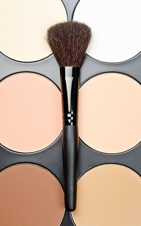 Professional makeup brush and cosmetics photo