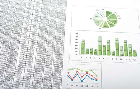Business still-life with diagrams, charts and numbers Stock Photo - 14265581