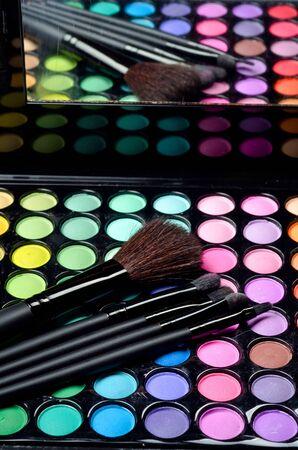 neutrals: Professional makeup brushes and cosmetics