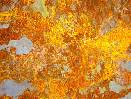 Detail of an iron sheet with rust