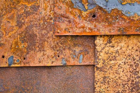 Iron sheets with rust as background Stock Photo - 2713188