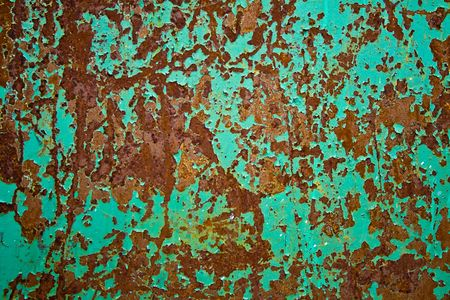 Color painted iron sheet with rust as background Stock Photo - 2713184