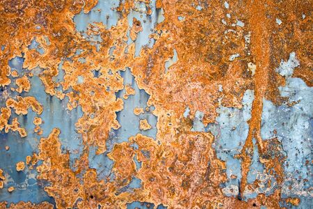 Color painted iron sheet with rust as background Stock Photo - 2713194