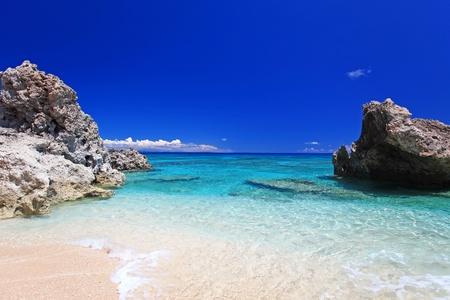 Rock and beautiful tropical sea