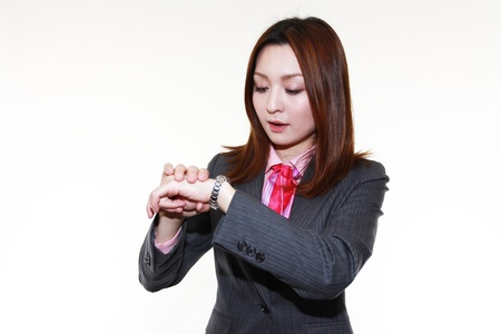 Late busy business woman Stock Photo - 15103077