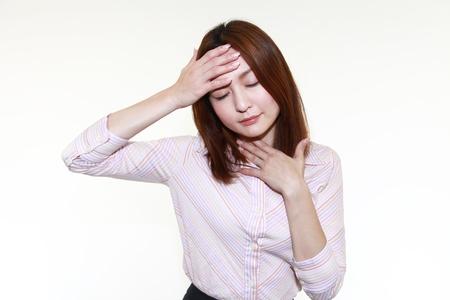 tightness: Woman having cold