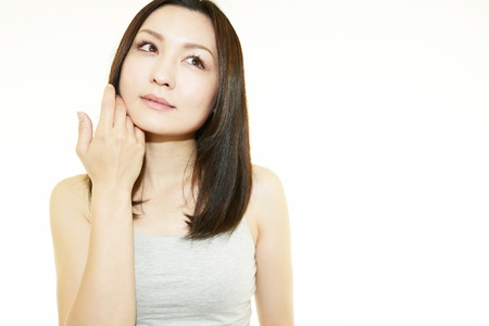 The woman who is doing skin care  Stock Photo - 15242301