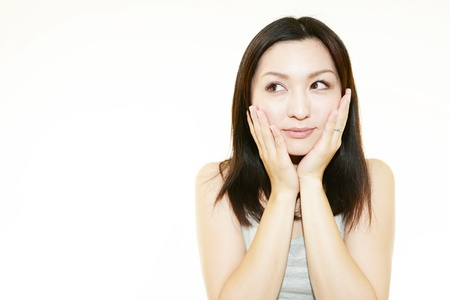 The woman who is doing skin care Stock Photo - 15242293