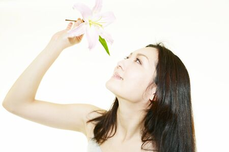 Lily And Beauty Stock Photo - 13453684