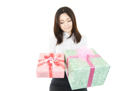 Woman was surprised and gifts Stock Photo - 15103132
