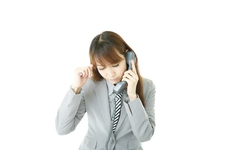 Stressed Business Woman Stock Photo - 15922064