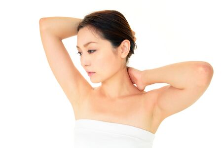 The woman who have made skin care Stock Photo - 14757816