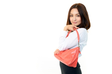 sociable: Lovely young woman with bags