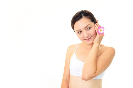 The woman who have made skin care Stock Photo - 14880611