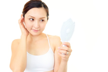 The woman who have made skin care Stock Photo - 14880603
