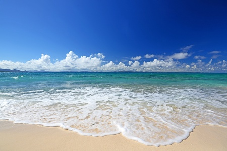 pacific ocean: Gorgeous Beach in Summertime Stock Photo