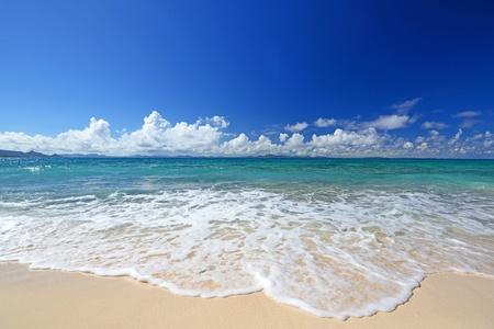 sandy: Playa magn�fica en verano Foto de archivo
