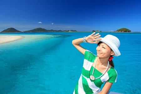 Women enjoy the sun Stock Photo - 15103998