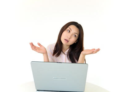 Stressed Business Woman Stock Photo - 15857328