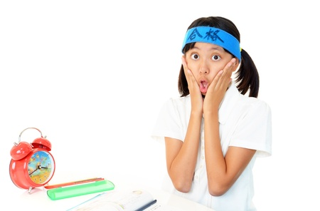 Portrait of an Asian schoolgirl 写真素材