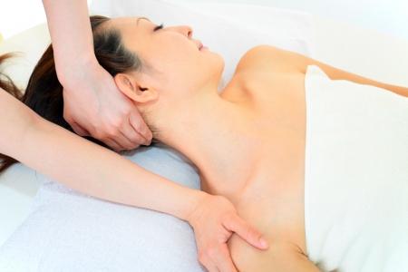 oriental massage: Woman having massage