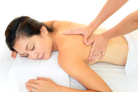 Woman having massage Stock Photo - 16277667