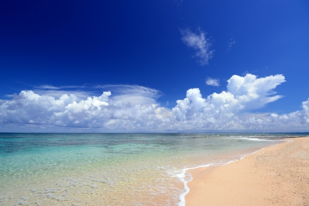 The cobalt blue sea and blue sky of Okinawa