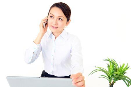 iuml: Smartphones and Women  Stock Photo