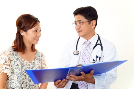 healthy person: Happy medical doctor and Patient