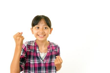 Smiling Asian girl photo